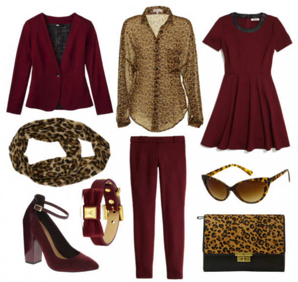Oxblood and Leopard