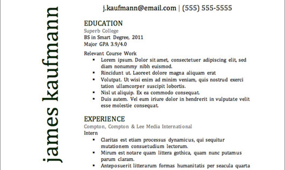 Top Resume Templates Including Word Templates – Top Resume Formats