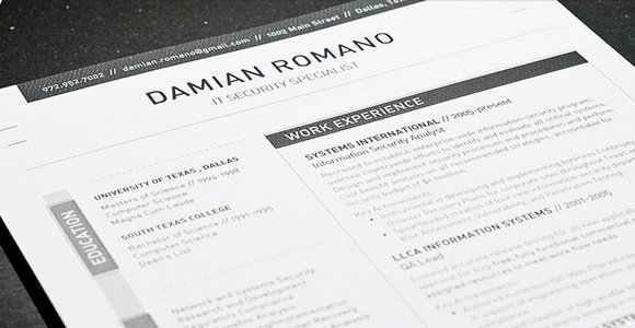 get the resume template - Pdf Resume Templates