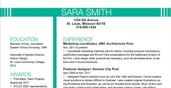 Top Resume Templates Including Word Templates – Resume Templates Design