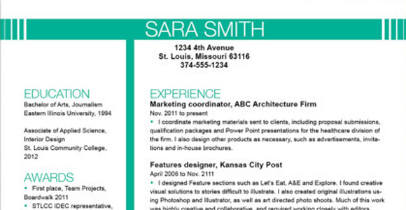 most effective resume template 2015 templates format 2014