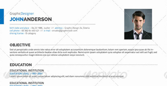 get resume template modern photo free templates
