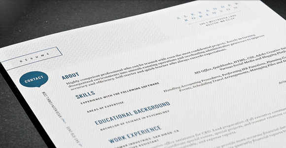 get the resume template