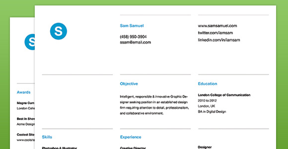 Creative Market Resume Template 3