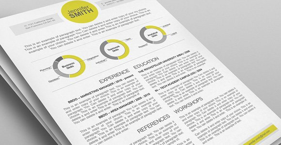 modern resume template the muse