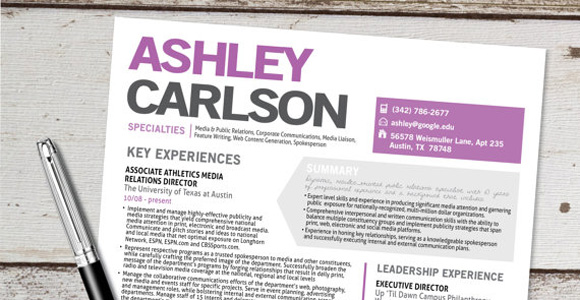 Etsy Resume Template 6  Cool Resume Layouts