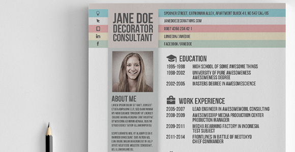 Creative Market Resume Template 5  Awesome Resume Templates