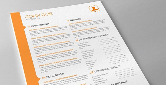 Template Of Resume. Human-Voiced Resume Cv Kit Resume Template