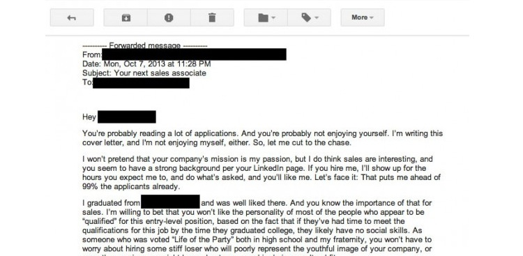 Show Passion Cover Letter