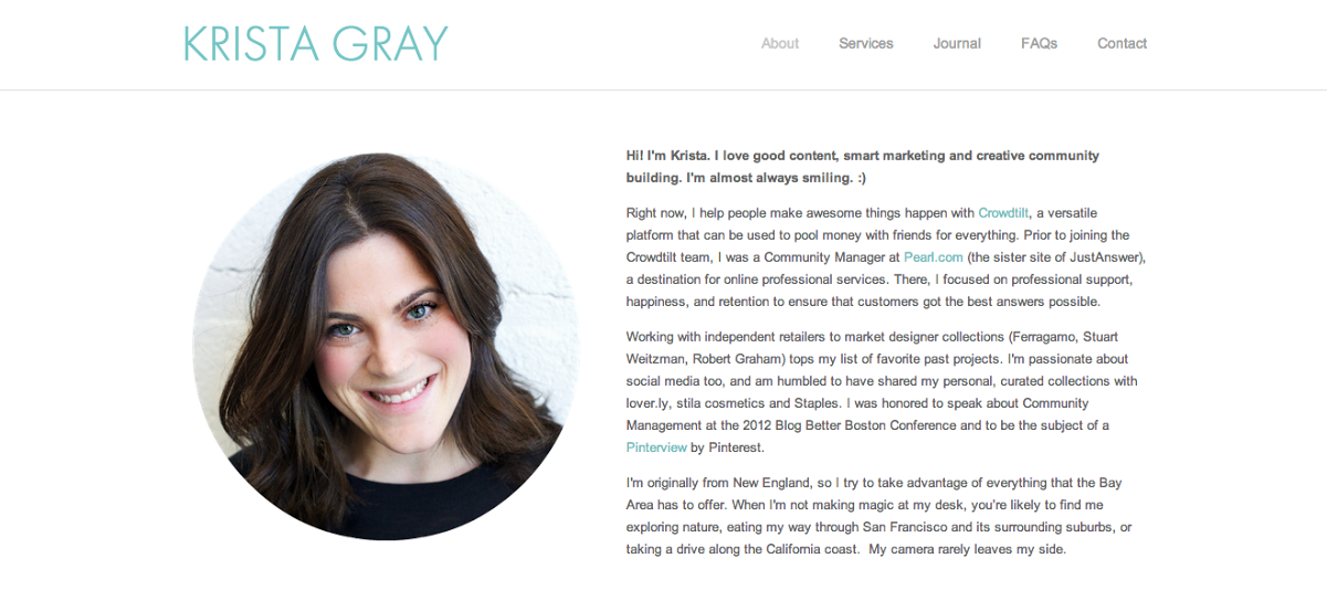 the best personal websites we ve ever seen 1 krista gray