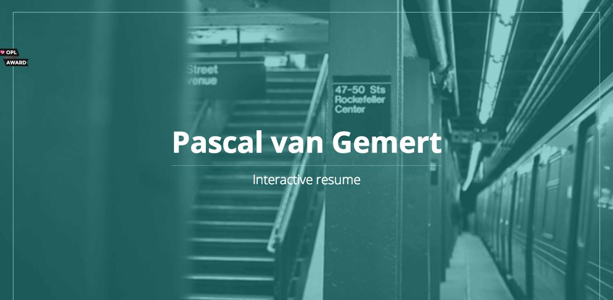 interactive resume examples