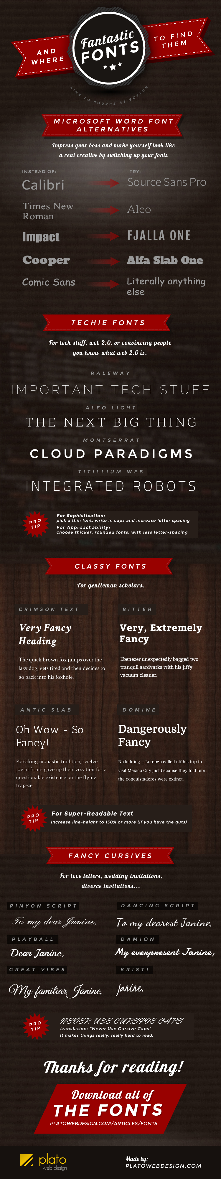 having trouble reading the infographic click on the image to make it larger - Best Fonts For Resume