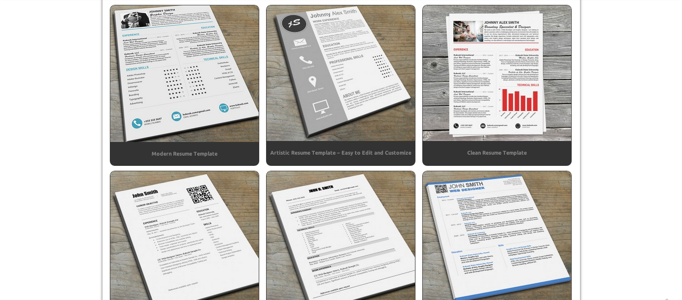 resume templates for visual resumes the muse this site provides 23 impressive easy to edit resume templates from about 4 to 14 each that are modern clean and supremely polished best part