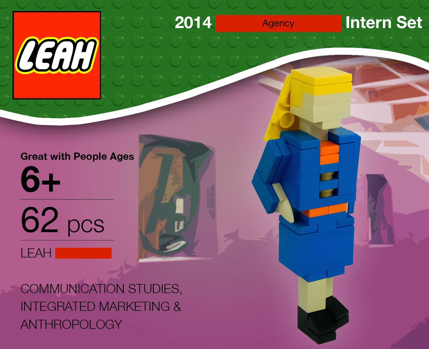 crazy creative out of the box job applications that worked designed a resume made of legos