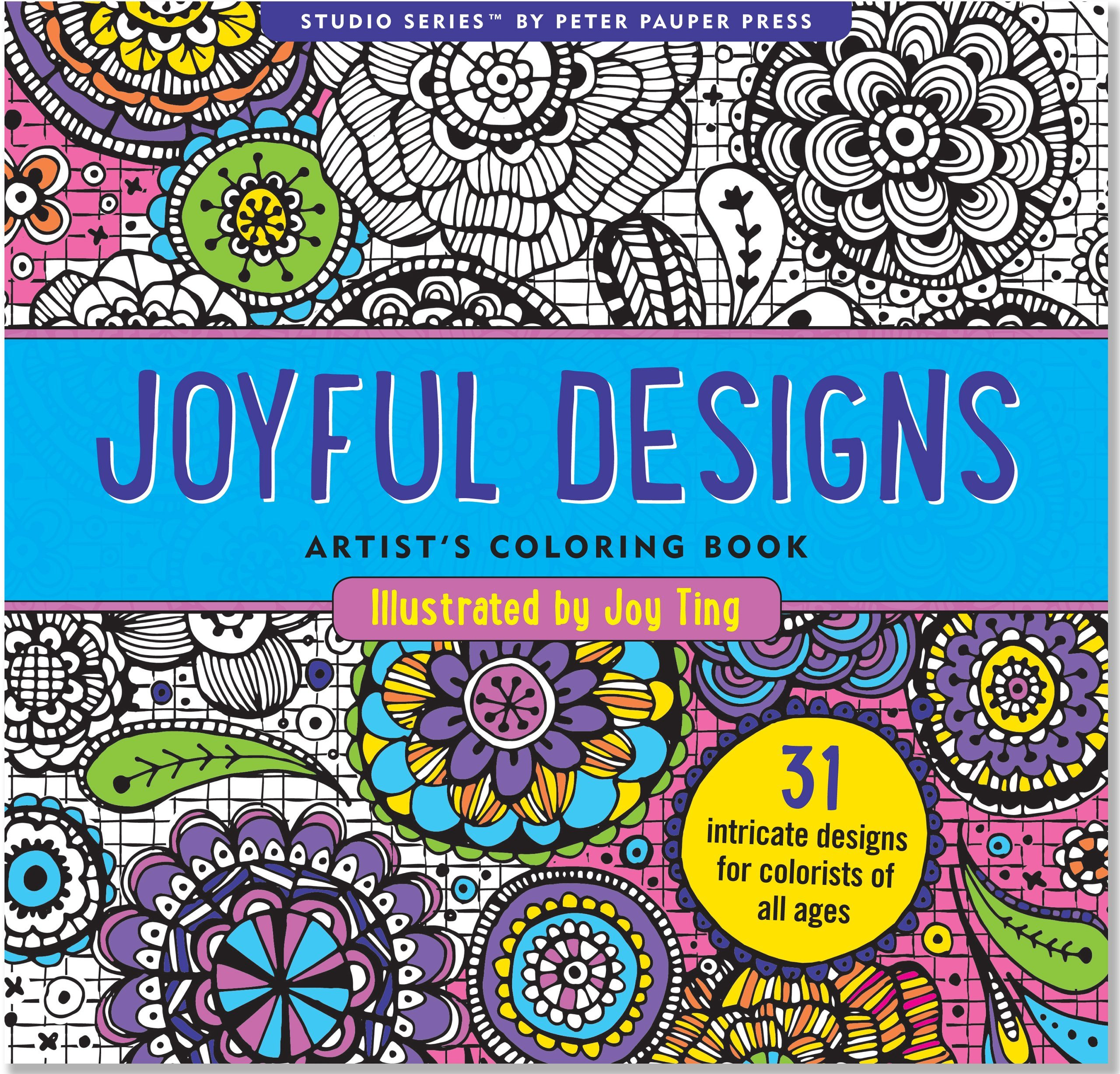 Coloring adults books - Joyful Designs Adult Coloring Book By Joy Ting