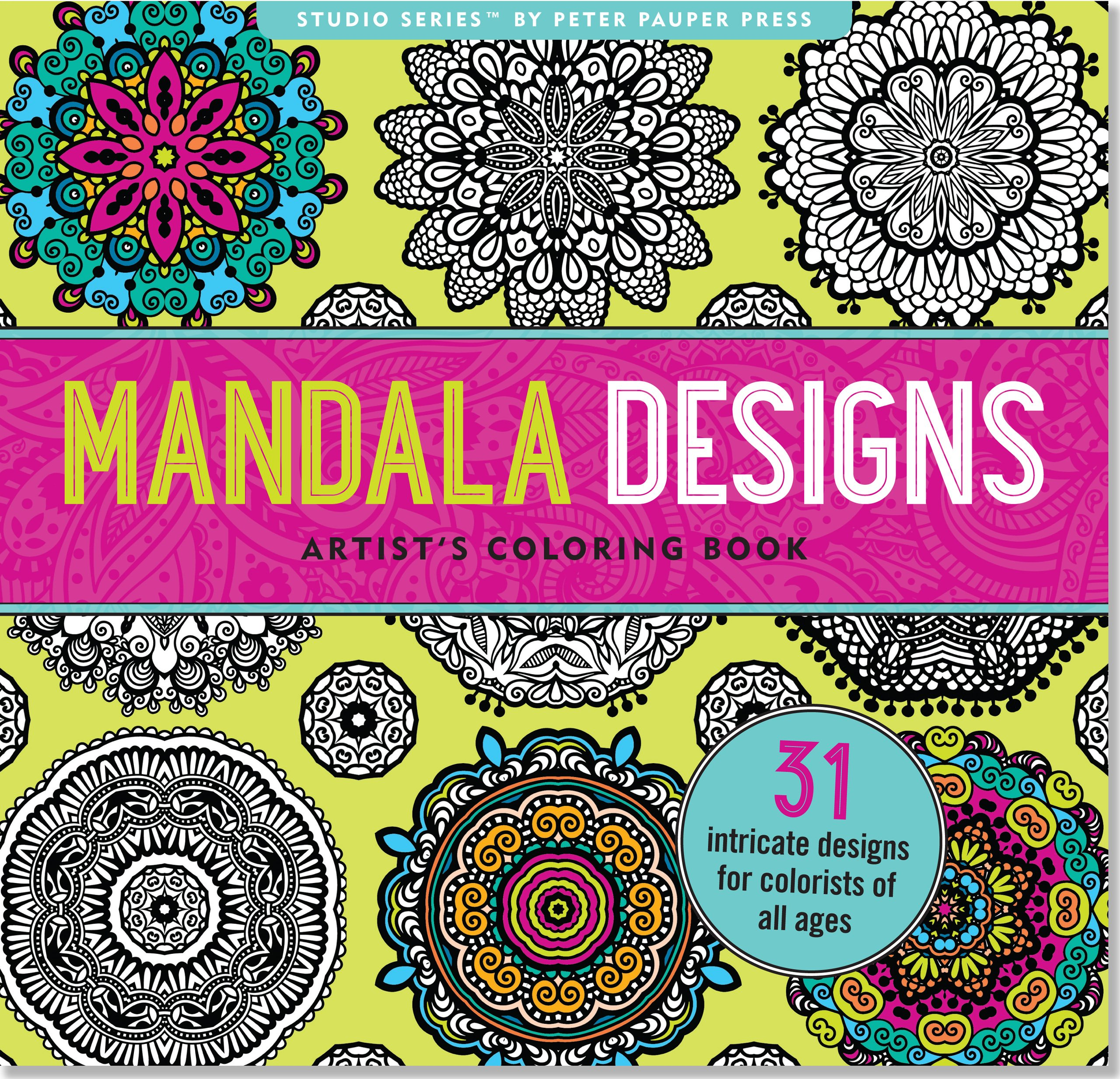 Mandala Designs Adult Coloring Book By Peter Pauper Press