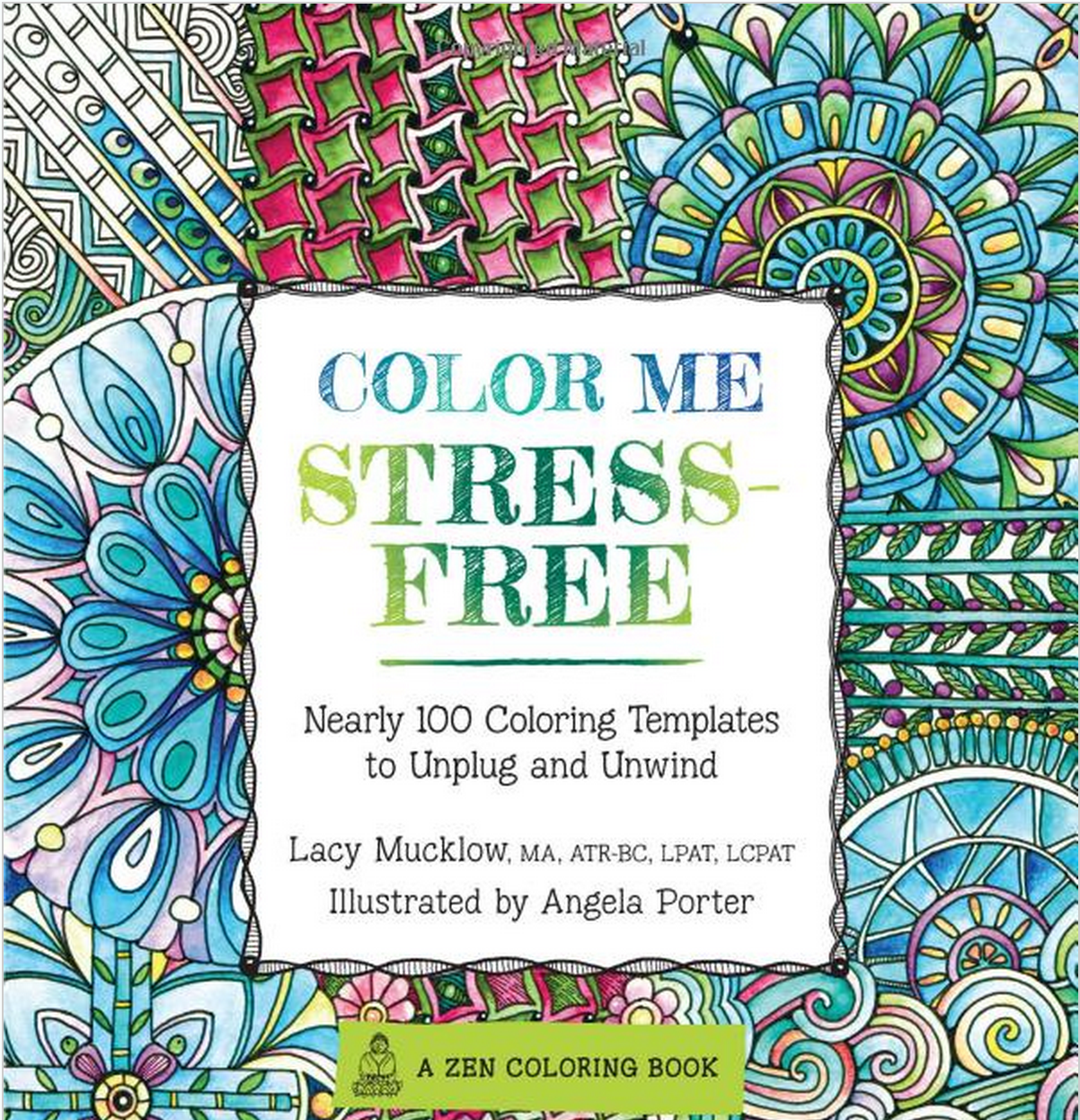 color me stress free adult coloring book - Pattern Coloring Books