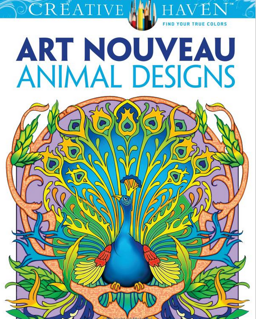 Creative Haven Art Nouveau Animal Designs Coloring Book By Marty Noble