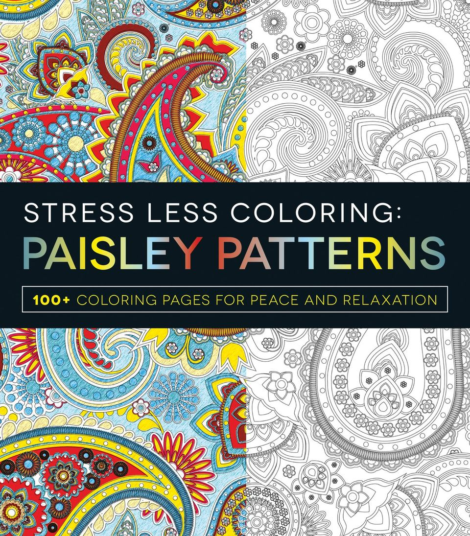 Stress Less Coloring Paisley Patterns By Adams Media