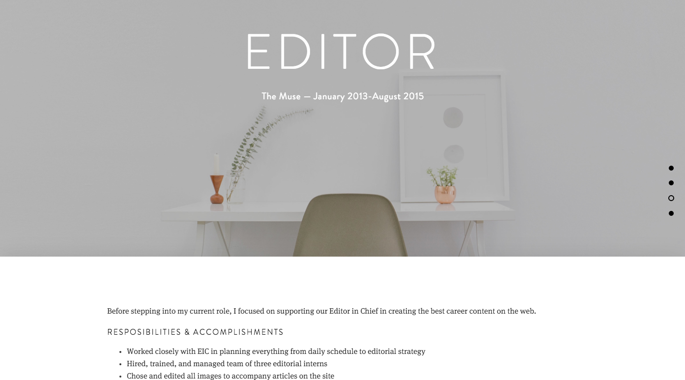 How to Build a Resume Website - The Muse