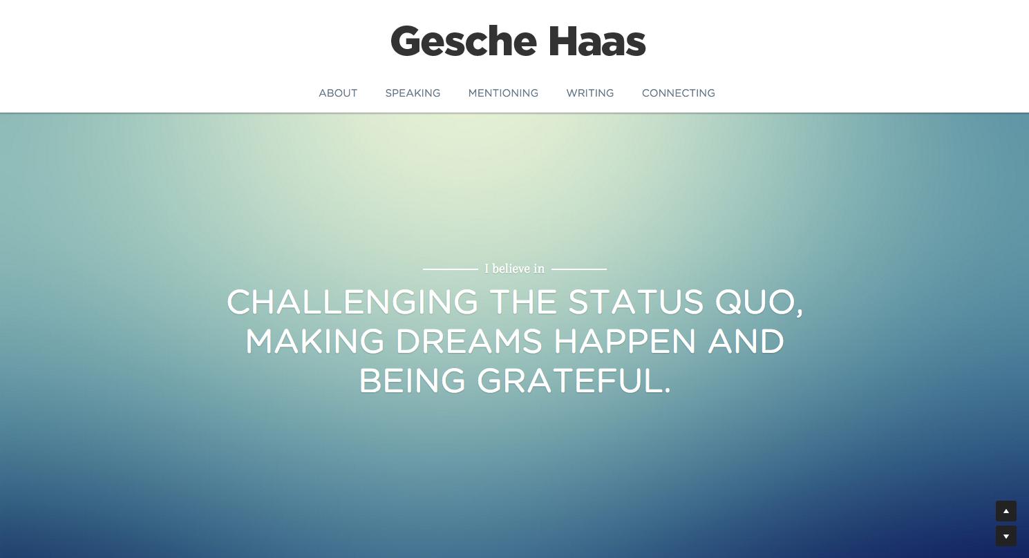 Gesche Haas one page website