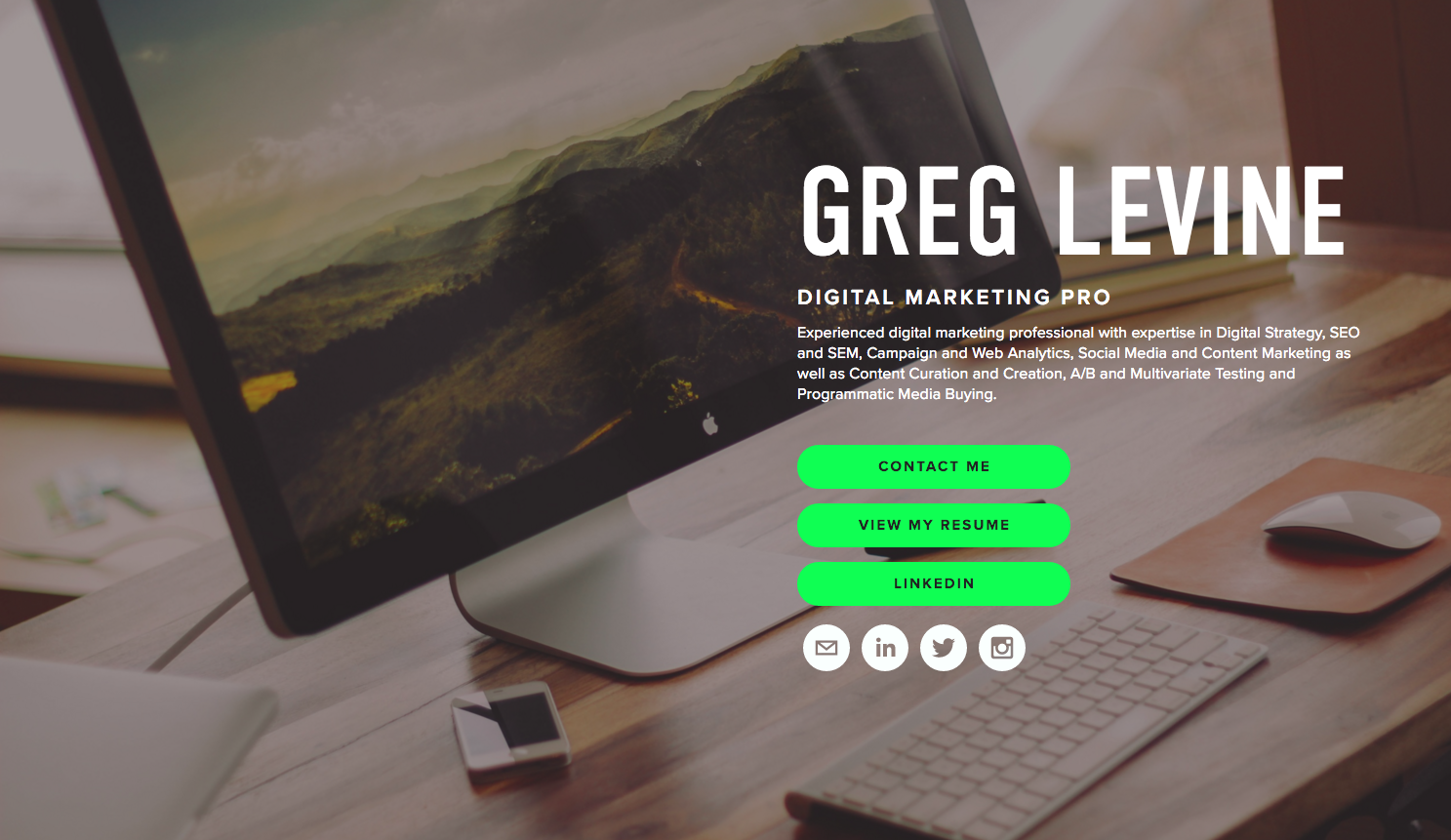 creating a resume website