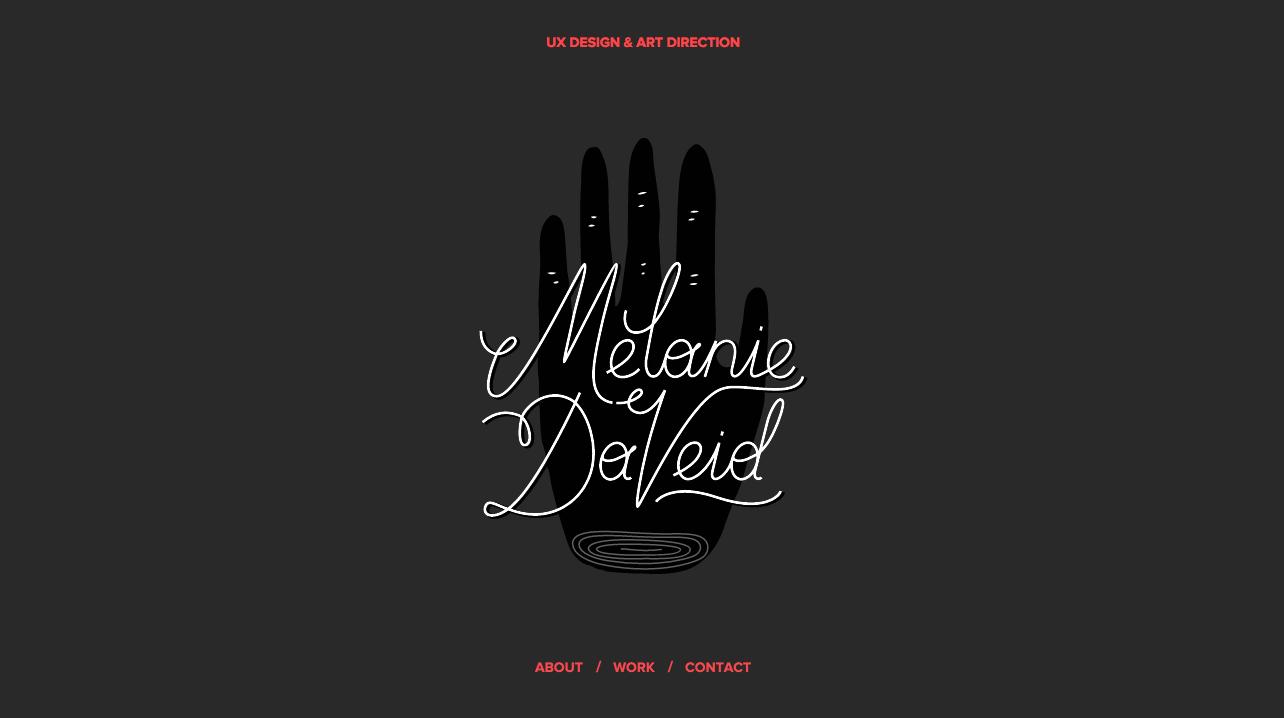 Melanie Daveid one page website