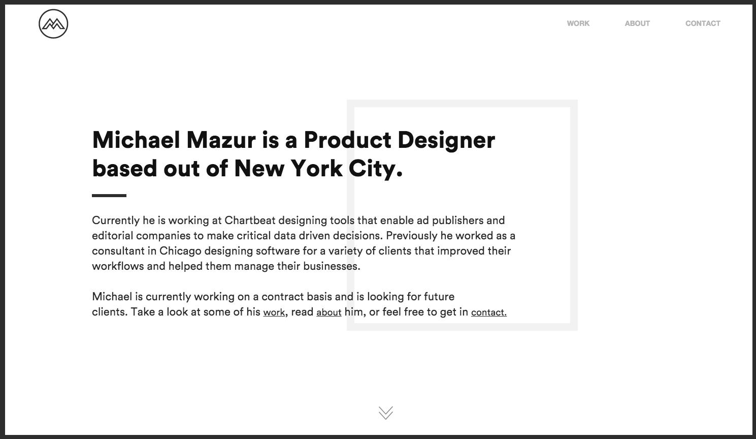 Michael Mazur one page website