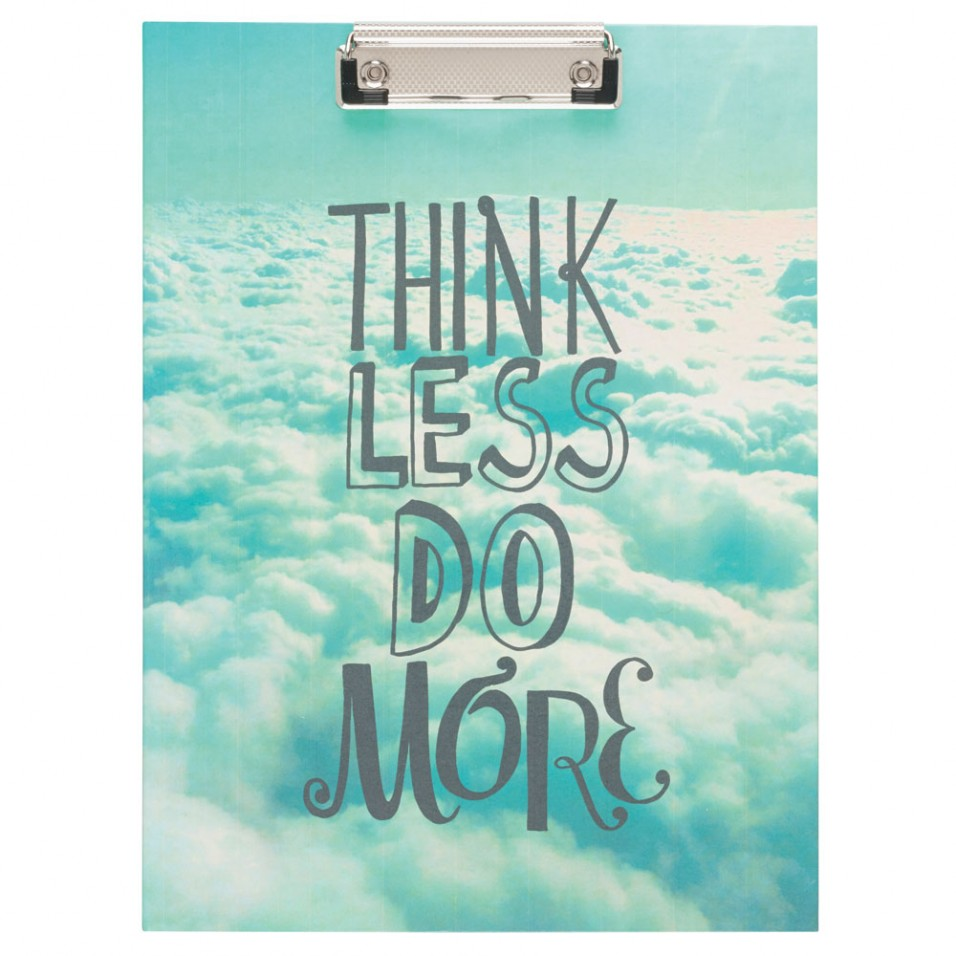 7 for the overthinker who needs a reminder think less do more padfolio 13
