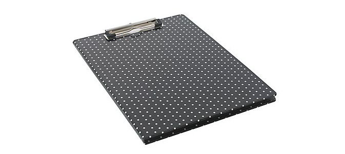 2 for the subtly stylish black polka dot padfolio clipboard 10