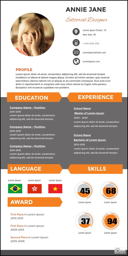 This Is One Of The Newer Infographic Sites To Have Caught My Attentionu2014and  With Good Reason. Like The Previous Options Described, It Offers A Large  Cache Of ...  Infographic Resume