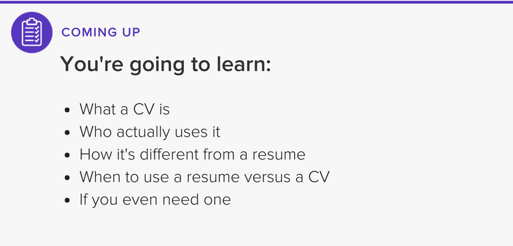Letu0027s Go Over Some Basics Of The CV Versus Resume.  What Is Resume Cv