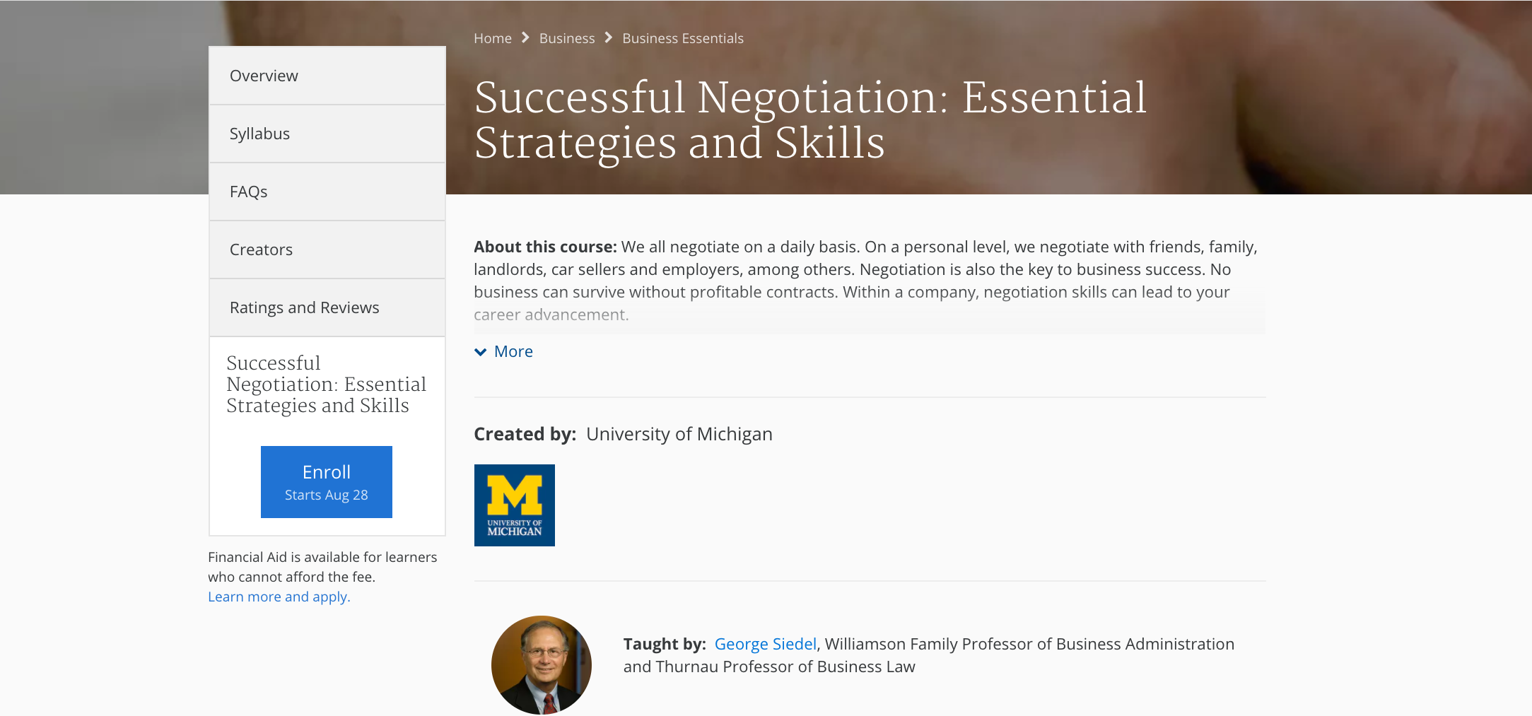 11 online classes to improve interpersonal skills the muse everyone should know how to negotiate whether its for a business sale or a discussion between you and your landlord this course will cover all the basics xflitez Images