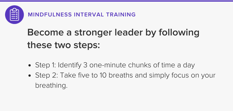 The 3-Minute Mindfulness Exercise That'll Make You a Better Leader thumbnail image
