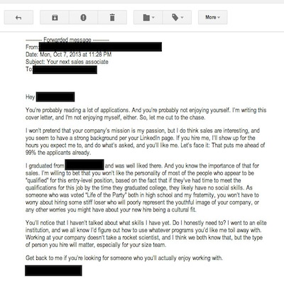 Best of 2013: The Worst Cover Letter Ever Written (Literally)