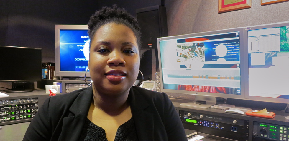 Ashleigh Ingram, Audio Visual Production Specialist - Department of Labor Careers