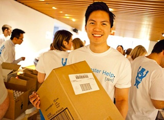 Careers - AOL employees volunteer for Hurricane Sandy relief.
