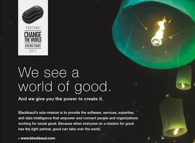 Careers - Blackbaud Named to the Fortune's 2017 Change the World List